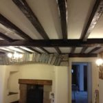 Internal refurbishment of house in Stainton Kendal Emulsion to walls Oil to beams